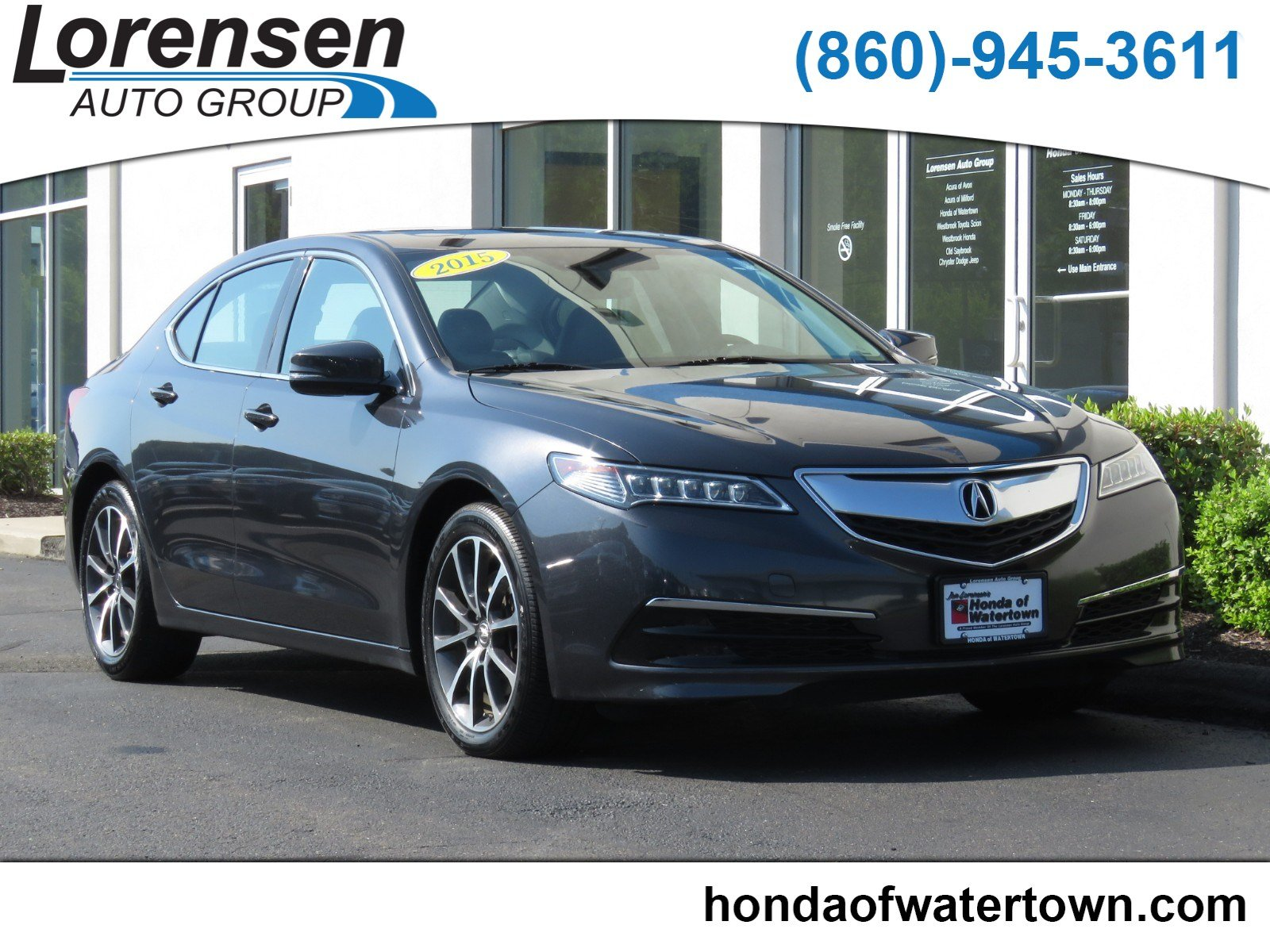 Pre Owned 2015 Acura TLX V6 Tech 4dr Car in Westbrook