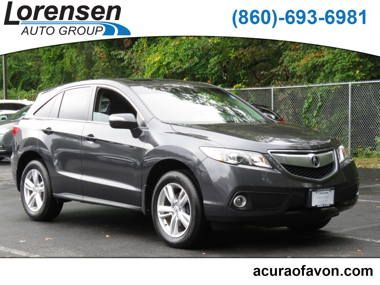 Pre Owned 2015 Acura RDX Tech Pkg Sport Utility in Westbrook 4148